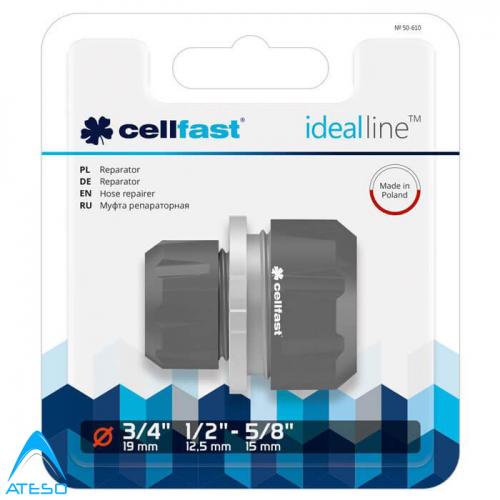 Cút Nối Măng Sông Ống Cellfast Ideal Line 50-610-Nối Nhanh 2 Ống Φ16 Với Φ21mm