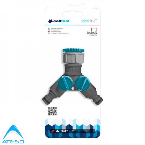 Thiết Bị Chia 2 Nguồn Nước Cellfast Ideal Line Plus (52-220N)